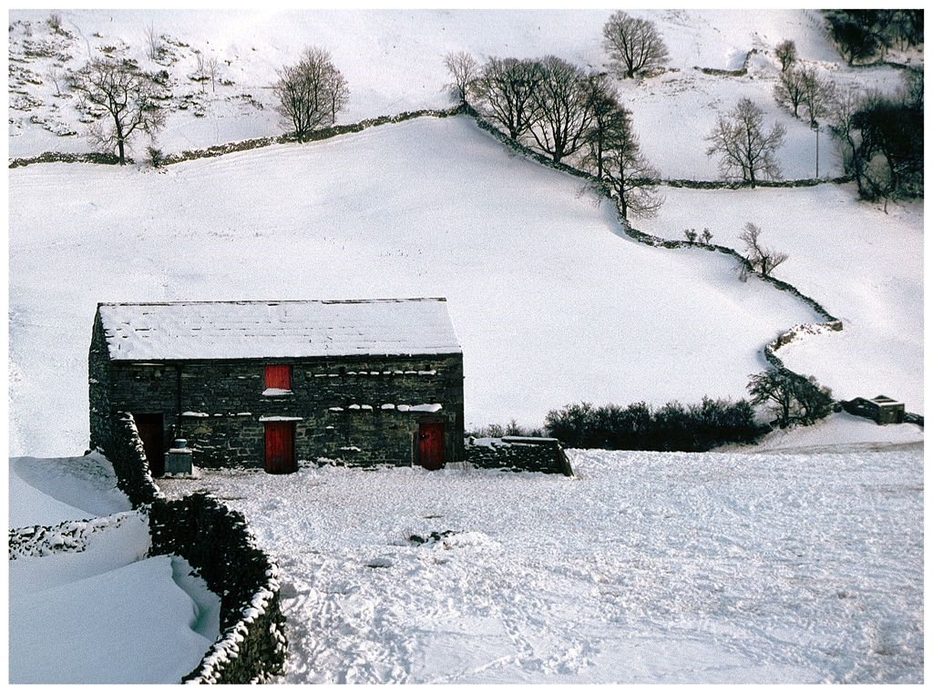 Swaledale Winter by Rose King (Christmas 1997, colour slide, Swaledale, North Yorkshire.)